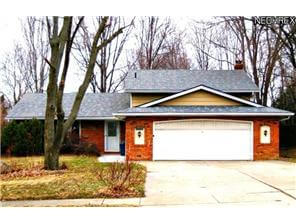 Welcoming Brick Front Split Level Home in Strongsville